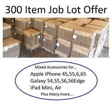 Mixed Job Lot 300 Item Wholesale iPhone 4S 5S 6S iPad Galaxy S3 S4 S5 S6 S6 Edge