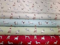 Clarke and Clarke. Best in Show, Cotton Dog Print Fabric