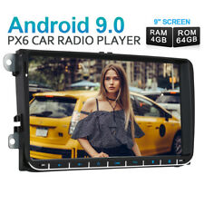 """2 DIN 9""""Android 9.0 Car Stereo GPS Navi Radio 4GB 64GB For VW Golf 5 Passat POLO"""