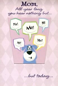 Happy Birthday Mom Puppy Dog Today Is All About You Hallmark Greeting Card