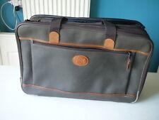 valise Didier Lamarthe  en toile cuir marron