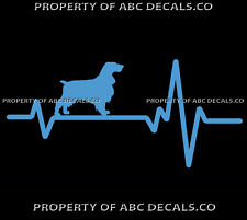 Heart Beat Line Dog Field Spaniel Native Show Adoption Rescue Car Vinyl Decal
