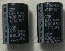 2x 18000uF 50V Radial Snap In Mount Electrolytic Capacitor