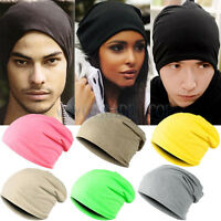 New Unisex Women Mens Knitted Knit Winter Warm Beanie Hat Cap Ski Hip-Hop Slouch