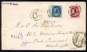 CANADA 1899 QV NUMERAL COMBO REGISTERED TO USA