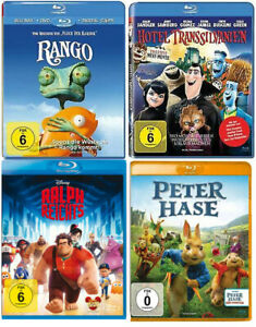 Kinder Blu-ray Sammlung 4 Filme (Disney, Peter Hase usw.)