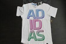 Adidas señores t-shirt blanco azul lila talla s nuevo con etiqueta Lifestyle Shirt