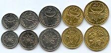Gertbrolen République MALGACHE séries de 5 monnaies neuves, issues de rouleaux