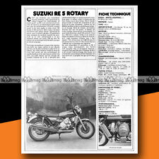 ★ SUZUKI 500 RE-5 RE5 ROTARY WANKEL ★ 1975 Essai Moto / Original Road Test #a112