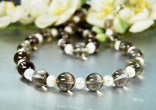 Collar BELLO de Cuarzo Ahumado con perlas de Agua Dulce