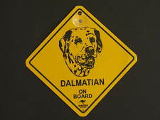 Dalmatian On Board Dog Breed Yellow Car Swing Sign Gift