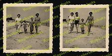 orig. Fotos Sommer Badegäste Familie Frauen Binz Rügen Ostsee Agfa-Lupex 1936