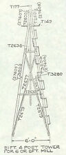 21ft Windmill Tower for 6ft/8ft Aermotor Style Windmill