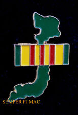 VIETNAM WAR MAP Ribbon LAPEL HAT PIN US ARMY MARINES NAVY AIR FORCE USCG VETERAN