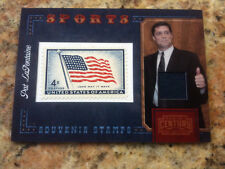 Panini Century Collection Pat LaFontaine SPORTS STAMP AND MATERIAL Swatch CARD!