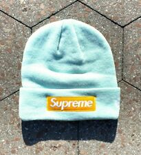 Supreme x New Era Ice Blue Box Logo FW17 Beanie