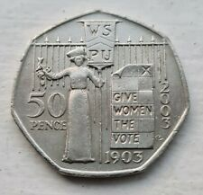 2003 rare SUFFRAGETTE 50p piece Give Women the Vote Fifty Pence Coin