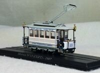 1:87 City Urban Tram MOTRICE N 13(CGFT)-1907 Static Display 3D Plastic Model
