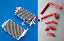 Honda CR250 CR250R 2003 2004 03 04 CR 250 R Aluminum radiator and silicone hose