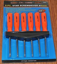 6 PC Torx Star Screwdriver Set with Storage Rack SD 10 15 20 25 27 30 Magnetized