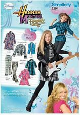 Simplicity 2294 Hannah Montana Girls Pants, Dress, Tunic,Jacket,Vest Sizes 8- 16