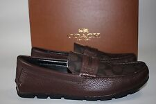 NIB COACH Size 10 Men's Mahogany 100% Leather Body MOTT PENNY Driving Loafer