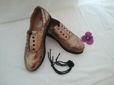 I Love Billy Tweedy Women's Size 38 Glitter Lace Up Shoes Flats