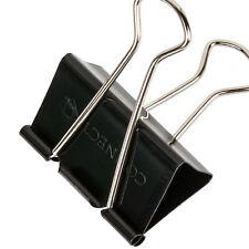 12 x Foldback Clip 32 mm PIEGA sul retro della carta binder clip Bulldog Clip Clip in Metallo