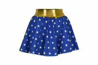 Girls Child Wonder Woman Style Skirt, Costume/Fancy Dress - Superhero