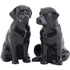 Black  Yellow or Chocolate Labrador Salt and Pepper Pots Cruet Set by Quail