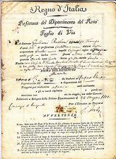 U266-PERIODO NAPOLEONICO-FOGLIO DI VIA 1812