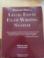 LEEWS (Wentworth Miller's Legal Essay Exam Writing System) 8th Edition