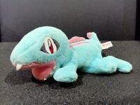"Pokemon TOTODILE Kuta Kuta Beanie Laying Plush Doll Toy TOMY Japan 5.5"""