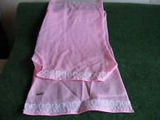 LOT DE DEUX DRAPS ROSE    BARBIE              CART 25