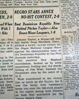 BLACK BASEBALL LEAGUE w/ Early Satchel Paige Pitcher Rpt. 1937 Old NYC Newspaper
