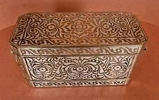 Betel Nut Box Container Silver Inlaid Bronze Mindanao Philippines Circa 1900