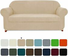 Subrtex Sofa Cover 2 Piece Stretch Couch Slipcovers Furniture Protector for Soft
