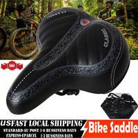 Wide Big Bum Bike Bicycle Gel Cruiser Comfort Sporty Soft Pad Saddle Seat