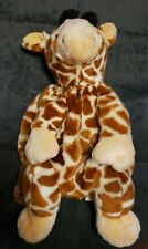 "Travel Buddy 16"" Giraffe Plush Backpack School Fun"