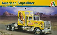 Italeri 3820 1/24 Scale Model Kit U.S American Superliner Hauler Truck
