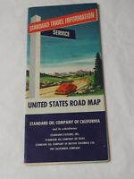 1947 Standard Oil Company of California United States Road Map Excellent