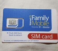 Walmart Family Mobile Sim Kit Works In Smart Phones Nano Fit Unlocked