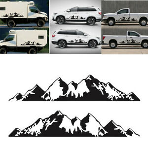 2pcs Mountain Range Vinyl Decal Sticker Fit for Car Truck Side Door Decoration