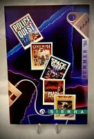 Vintage 1988 Sierra Video Game Catalog MPH-680 - 24 Pages