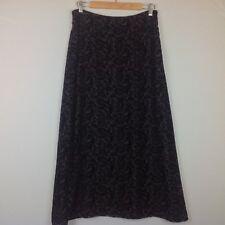 Charter Club Maxi Skirt Womens 10 Silk Velvet Paisley Boho