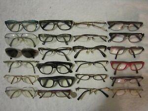 Mix Lot of 24 Silhouette-Jimmy Choo-See-miu-Bvlgari-Cazal-Fendi-more Eyeglasses