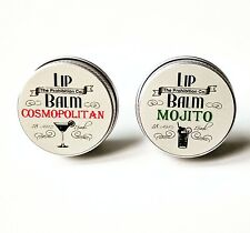 Summer Cocktails Lip Balm Gift Set by The Prohibition Co. Mojito & Cosmopolitan
