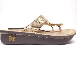 Alegria CAR-680 Sandal Gold Women's EUR 41 US Size 10/ 10.5