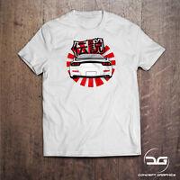 Kanji Legends JDM Japanese Inspired Rising Sun RX7 Drift Car Mens T-Shirt Gift