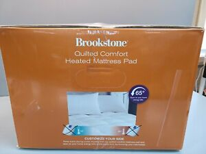 Brookstone Quilted Comfort Dual Zone Heated King Mattress Pad Only no Controller